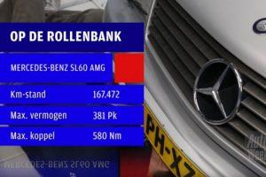 AutoWeek op de rollenbank SL 60 AMG
