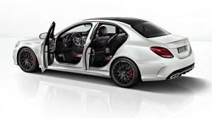 Mercedes-AMG C63 sedan wit