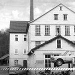 Oude archieffoto van de eerste garage in Burgstall