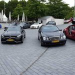 Onze AMG's op de 'heuvel' van het museum